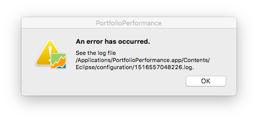 PP error Message upon attempting to open
